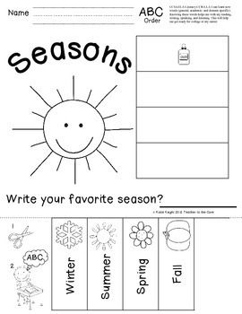 Sort and Sequence ABC order for 40 Holidays and Themes