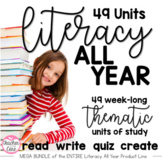 Literacy All Year Reading and Fluency Passages with Coordinating Writing and Art