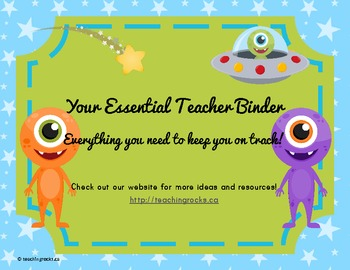 Your Essential Teacher Binder: Classroom Organization Kit (Alien Theme)
