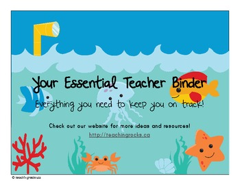 Your Essential Teacher Binder: Classroom Organization Kit (Ocean Theme)