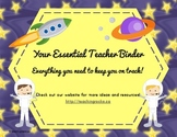 Your Essential Teacher Binder: Classroom Organization Kit (Outer Space Theme)
