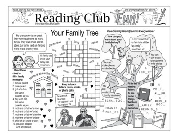 Your Family Tree (Grandparents Day, Genealogy)