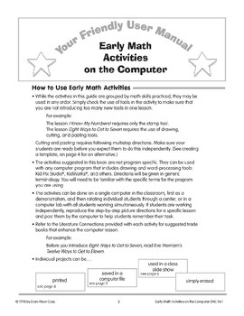 Your Friendly User Manual: Early Math Activities