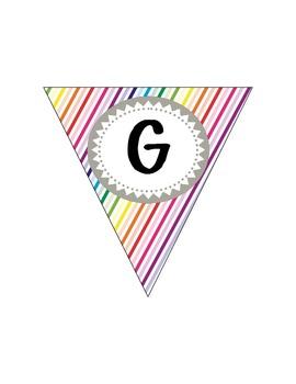 {Your Grade} Rocks! Rainbow Bunting