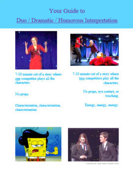 Your Guide to Dramatic / Humorous / Duo Interpretation