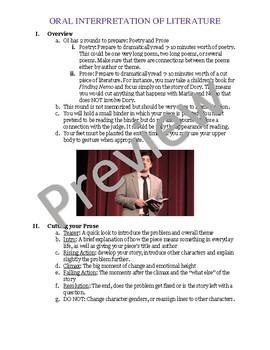 Your Guide to Oral Interpretation of Literature