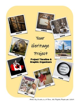 Your Heritage Project - Project Timeline & Graphic Organizers