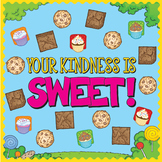 Your Kindness Is Sweet Bulletin Board with Note Writing Cards