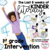 End of Kinder/1st gr. Intervention: Literacy And Art