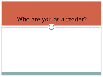 Your Life as a Reader: A reading inventory activity
