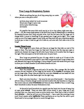 Your Lungs - Informational Text Test Prep