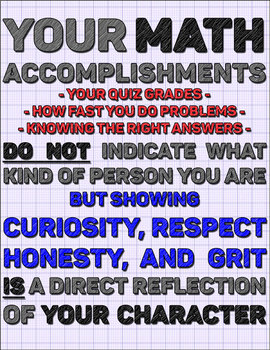 Math Doesn't Define You! (Printable motivational poster for your math classroom)