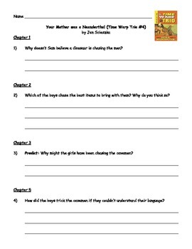 Your Mother was a Neanderthal - Guided Reading Packet