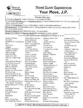 Your Move, J.P. Literature Guide