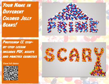 Your Name in Different Colored Jelly Beans! A Photoshop CC step-by-step lesson!