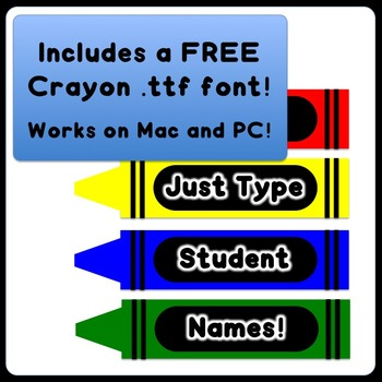 Crayon theme editable name plates your name on a crayon by crayon theme editable name plates your name on a crayon toneelgroepblik