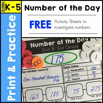 Number of the Day Worksheet