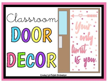 Your Only Limit Is You (Classroom Door Decor Kit)