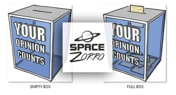 Your Opinion Counts ( images of ballot box )
