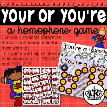 Your Or You're Homophone Game