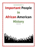 Your Research Report On: Important People in African Ameri