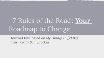 Your Roadmap to Change: Journal Unit