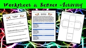Your Senses No Prep Lesson with Power Point, Worksheet, and Partner Activity