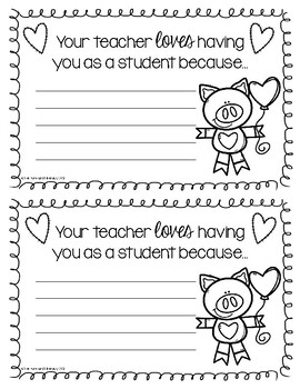 Your Teacher LOVES Having You as a Student Because...