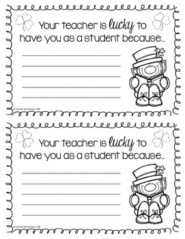 Your Teacher is LUCKY to Have You as a Student Because...