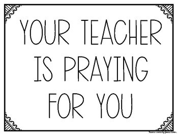 FREE Your Teacher is Praying for You