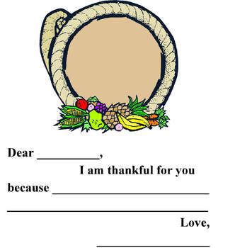 Your Teacher is Thankful Cornucopia
