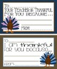 """Thanksgiving """"Your Teacher is Thankful For You Because..."""" Cards"""