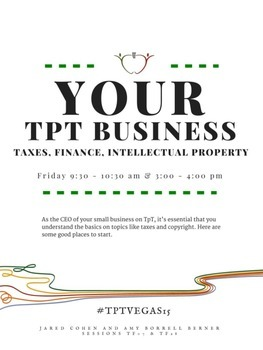 Your TpT Business 2015 Conference Handout