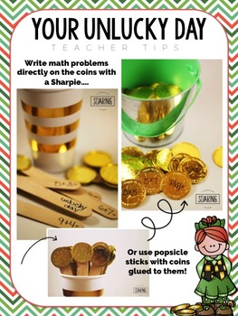 Your Unlucky Day Math Game - A Saint Patrick's Day Activity