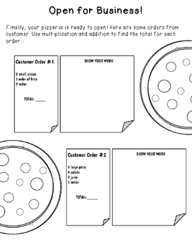 Your Very Own Pizzeria, Extension/Practice Activity for Grades 4 & 5