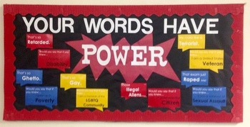 Your Words Have Power Bulletin Board