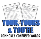 Your, Yours & You're (Commonly Confused Words Series)