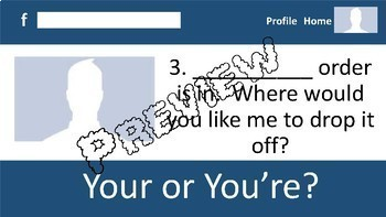 Your and You're Practice #1--A Social Networking PowerPoint