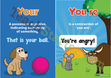 Homophones - Your and You're Poster