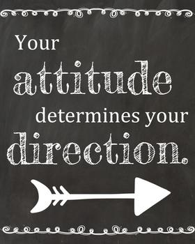 Your attitude determines your direction poster