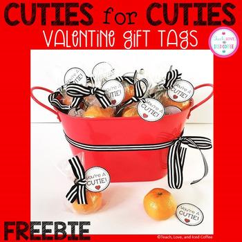 Your'e A Cutie Valentine Tags