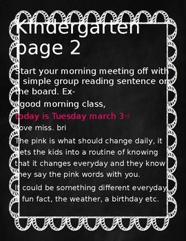 Your first 6 weeks of being a kindergarten teacher