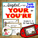 Your or You're - Digital Task Cards