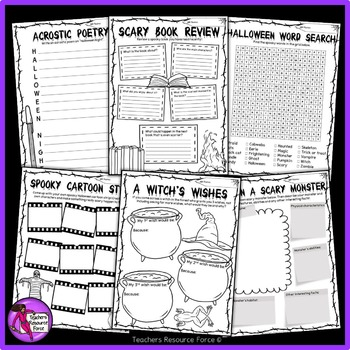 Printable Halloween Activities for teens
