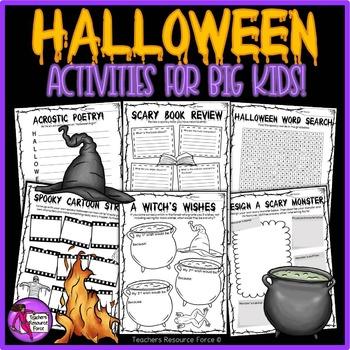 Printable Halloween Activities for teens
