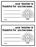 Your teacher is thankful for you because (student certific