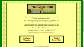 Your very own classroom website & email!!!