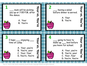 Your vs. You're Task Cards