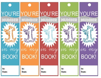"""""""You're #1 In My Book!"""" Bookmarks"""