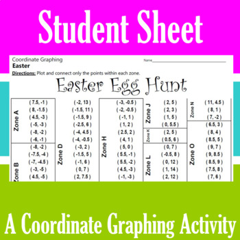 Easter Egg Hunt - A Coordinate Graphing Activity